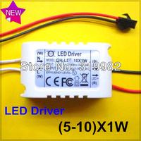 10pcs/lot, (5-10)X1W LED driver, 5-10W led outside driver, 300mA celling light driver,  LED Lighting Transformers, freeshipping