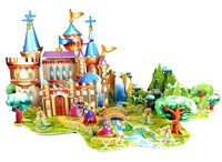 ZILIPOO 3D Puzzle Fairy Tale Model Toy/The Frog Prince, Children's Safe Non-toxic Foam+Paper Model DIY Jigsaw 378