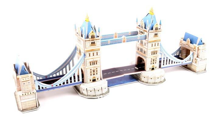 ZILIPOO 3D Puzzle Building Model PUZ Toy/London Tower Bridge, Children's Safe Non-toxic Foam+Paper Model DIY Jigsaw 392(China (Mainland))