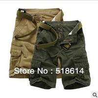 Free shipping army cargo pants men overalls high quality men outdoor casual multi pockets design trousers camouflage shorts men