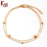 New 2014 Bead Ankle Bracelet chain Rhinestone sexy women jewelry LC0666 L0160
