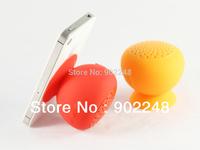 Free shipping new ovelty original suction cup mushroom bluetooth speaker gift led light wireless splash resistant