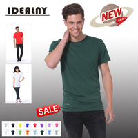 2014 New Quality 1111 Heavy Cotton O neck Short Sleeve Men's T-shirt 14 Colors-CN Free Shipping