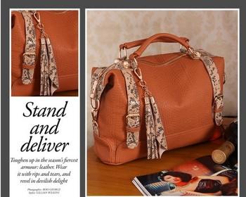 2014 Factory Direct Silt Pocket Zipper Totes Sale New Arrived Popular Handbag Leather Shoulder Bag Fashion Office Free Shipping