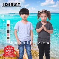 2014 New Stylish 1101 V neck Short Sleeve Children T-shirt 7 Colors-CN Free Shipping