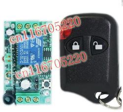 HOT DC 12V 10A 1CH RF Wireless Remote Control Switch System Receiver & Transmitter Wireless Electric Switch for Lights(China (Mainland))