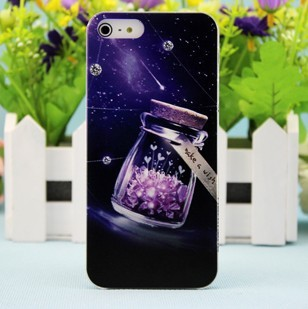 Wholesale For iph/5 phone case for app/5 phone case relievo colored drawing protective case mobile phone case(China (Mainland))