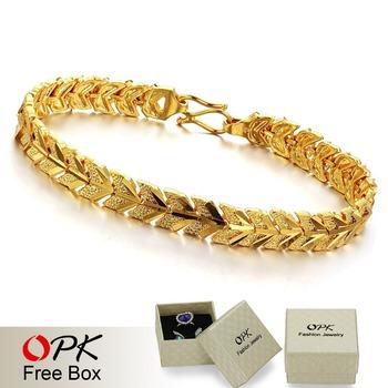 OPK JEWELLERY wedding  Jewelry18k gold plated chain bracelets  wholesale fashion gold bracelet  368