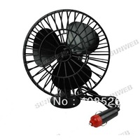 *12V Powered Mini Fan Car Truck Vehicle Cooling Cool Air Fan with Suction Cups Black free shipping 11761