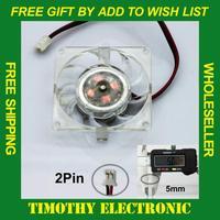 Hot! FREE SHIPPING 40 mm 2pin Square SVGA/VGA Video Card Chipset/Chip Cooling Heatsink  COOLER Fan 10PCS/LOT #FS018