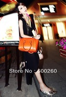 2013 women's fashion brief crocodile pattern shoulder bag leather bag free shipping 5364