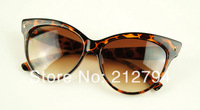 2014 New Large Cat Pattern Women's Sunglasses  Boutique Sunglasses Women 3 Colors Free Shipping