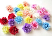 100pcs/lot mini daisy Artificial Silk Flower Heads Wedding party Hair dressing free shipping