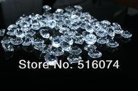 1000pcs Acrylic Clear 10mm 4 CT Diamond Confetti Wedding Reception Table Scatter Decoration