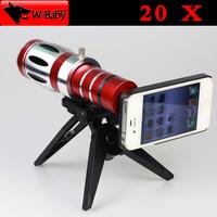 20x degree optical zoom lens Telescope camera for iPhone lens for iPhone 5 5s,cell phone lens mobile phone lens,1 pcs