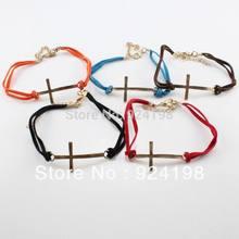 leather cross bracelet promotion