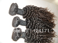 2013 new arrival cheap 5A unprocessed virgin brazilian human hair extension dyeable natural color deep curl on sell no tangle