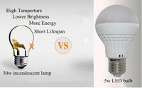 10pcs/lot Free Shipping Cool White 7w LED E27 light  High Power LED Bulb bubble lamp, LED Energy Saving Light ball Bulb for home