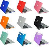 3 in1  High Quality  Rubberized Fosted Matte  Crystal  case for macbook pro 13+keyboard cover+screen guard