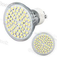 GU10 LED 3W 220V 3528SMD 60 LED Warm White Pure white Office Light LED Lamp Bulb Spotlight High Power 300LM 3200K 6500K