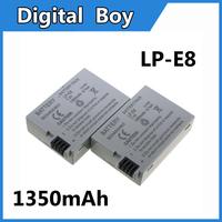 2 pcs/lot Battery Pack LP-E8 LPE8 LP E8 for Canon  550D 600D 650D Rebel T2i T3i T4i Kiss X2 batteies