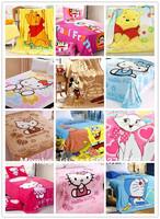bedspread plaid bed sheet cartoon baby blanket coral fleece blanket infant quilt home sleeping quilt