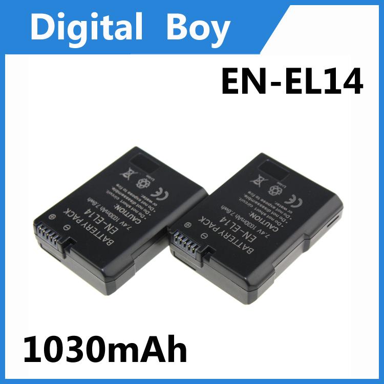 2 pcs/lot Full Decoded Battery for Nikon EN-EL14 ENEL14 EN EL14 CoolPix P7000 P7100 D3100 D3200 D5100(China (Mainland))