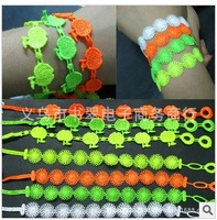 Free shipping Wholesale 100pcs Mixed color 2013 designer Fashion Charm lace bracelets neon for women