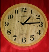j20/Free shipping The original wood color proof contracted mute bracket clock and wall clock