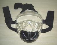 Professional Taekwondo mask, acrylic mask for Taekwondo/Karate head guard, fixed on the back of head, tightness adjustable