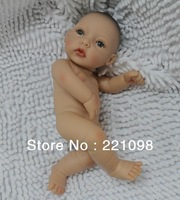"Free Shipping 2013 Reborn Baby Dolls Silicone Vinyl Super Simulation 10"" Baby Doll Real Like  Babies Toys Mini"