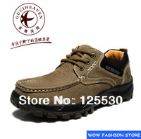 Hot Sales Fashion  Brand 532-1 Men's Outdoor Casual Shoes First Layer Cowhide Genuine Leather Journey Walking Shoes 2 colors