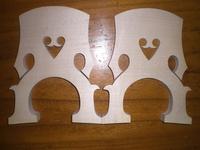 2PCs of Double Bass Bridge(Unadjustable) 4/4 size common grade