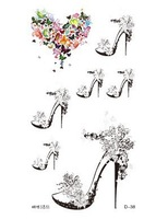 Waterproof high-heeled butterfly tattoo sticker creative love cool tattoo butterfly