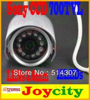 CCTV Camera 1/3 Sony CCD 700TVL Waterproof 12leds IR Night Day Vision Surveillance Video Camera Free Shipping Joycity