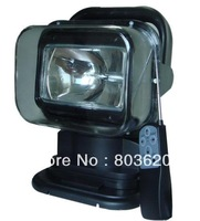 FREE SHIPPING 12V 55W Remote Control HID Xenon Search spotlight for Boat/Car/SUV/Camping/Hike, Rotating Wireless offroad lamp.