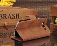 2013 Newest Top Luxury Golden Phoenix Genuine Original Leather Case for Samsung Galaxy SIII S3 i9300 Cover Wallet Case