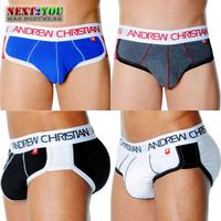 Free Shipping!!-5 PCS/LOT Brand Briefs / Mens Underwear/ Man Sexy Briefs/ Mix Colors (N-472)