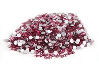 Free shipping 1400pc SS6 1.9-2.0mm Rose Non Hotfix  Flatback Rhinestone 3d Nail Art Decoration 6ss Glitter Gems  Beads Wholesale
