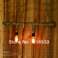 Industry Vintage Nostalgic Edison Water Pipe Wall Lamp  Bar Bookstore Project for home modern decor lighting b8028 1pcs/lot