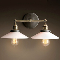 New 2014 American vintage wall lamp for home modern ofhead personalized bathroom dinning light b8044 1pcs/lot