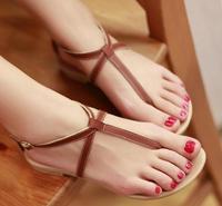 ENMAYER New hot 2014 flat sandals for women Genuine leather Sandals Summer Black white Sweet Ladies fashon sandals
