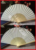Free shipping 50pcs/lot white paper wedding fan gift favor