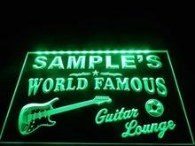 popular guitar neon sign