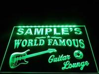 DZ007- Guitar Lounge Beer Bar Pub Room Neon Light Sign  hang sign home decor shop crafts led sign