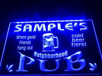 DZ008- Neighborhood Home Bar Pub Beer Neon Light Sign  hang sign home decor shop crafts led sign