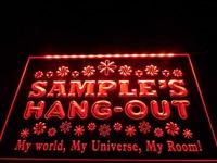 DZ018- Hang Out Girl Kid's Room Light Neon Sign  hang sign home decor shop crafts led sign