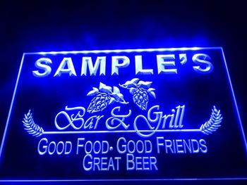 DZ019- Bar & Grill Beer Wine Neon Light Sign  hang sign home decor shop crafts led sign