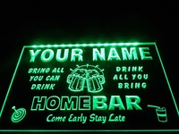 DZ057- Name Personalized Custom Family Home Brew Mug Cheers Bar Beer Neon Sign  hang sign home decor shop crafts led sign
