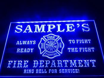 DZ055-b Fire Fighter Department Firemen Bar Neon Light Sign led sign